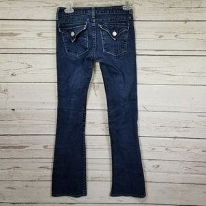 MISS ME Megan flap pocket low rise boot cut jeans